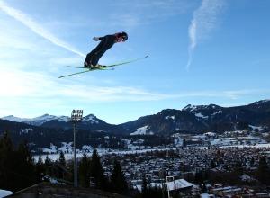 Flug über Oberstdorf