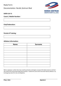 Reply Form Nordic Center Fill out