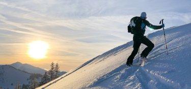 Hörnertour - Gipfelanstieg im Hintergrund das Riedberger Horn