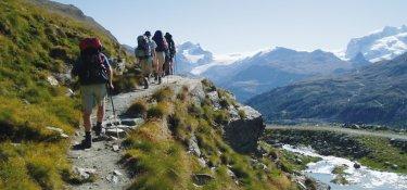 Wanderweg nach Zermatt