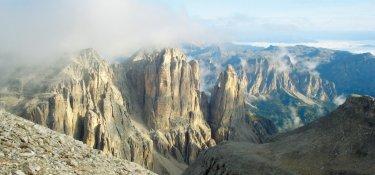 Dolomiten Höhenweg Gipfelpanorama