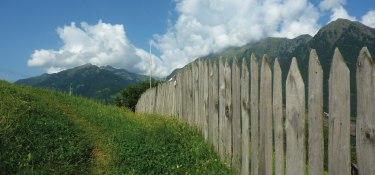 Alpenpanorama - Holzzaun
