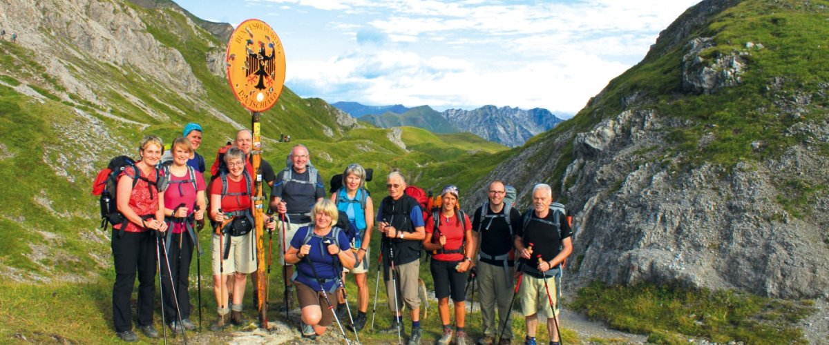 E5 from Oberstdorf to Meran - 1. Part of the European Hiking Route