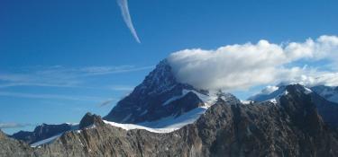 Panorama zwischen Chamonix und Zermatt