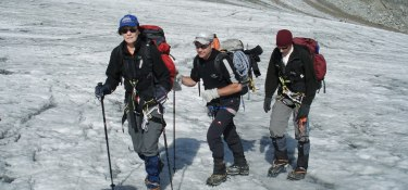 Über den Gletscher zum Gipfel