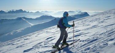 Skitour über den Gipfeln