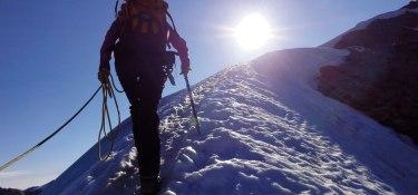 Im Aufstieg zum Similaun Gipfel