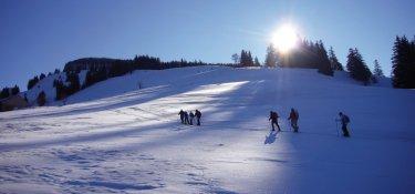 Traumhafte Stimmung beim Schneeschuhwandern