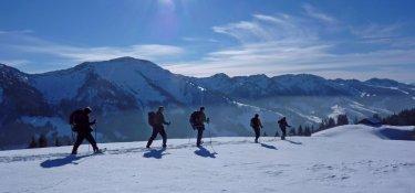 2. Tag - Ideales Schneeschuhgelände am Denneberg (1.427 m)