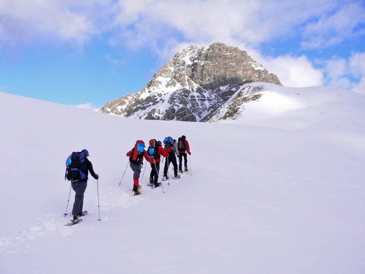 1. Tag - Aufstieg zum Hochalppass mit Blick auf den Großen Widderstein