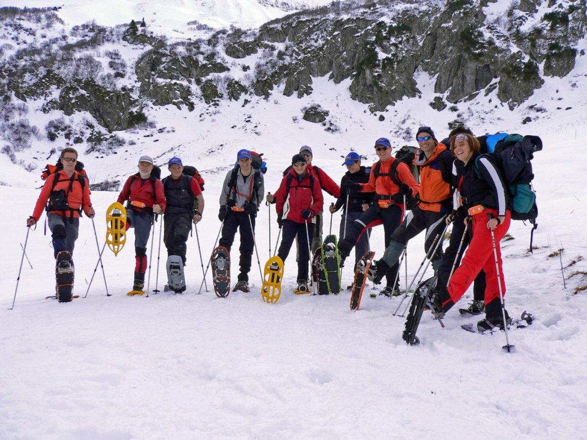 1. Tag - Start zur Schneeschuhtransalp - Aufstieg von Baad im Kleinwalsertal durch das Bärgundtal