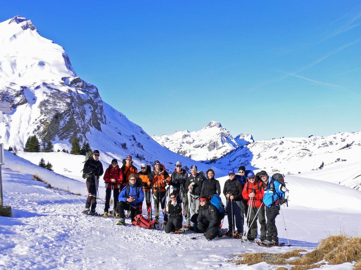 2. Tag - Gruppenfoto auf dem Auenfeldsattel