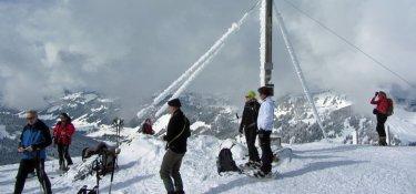 Auf dem Gipfel vom Riedberger Horn (1.787 m)
