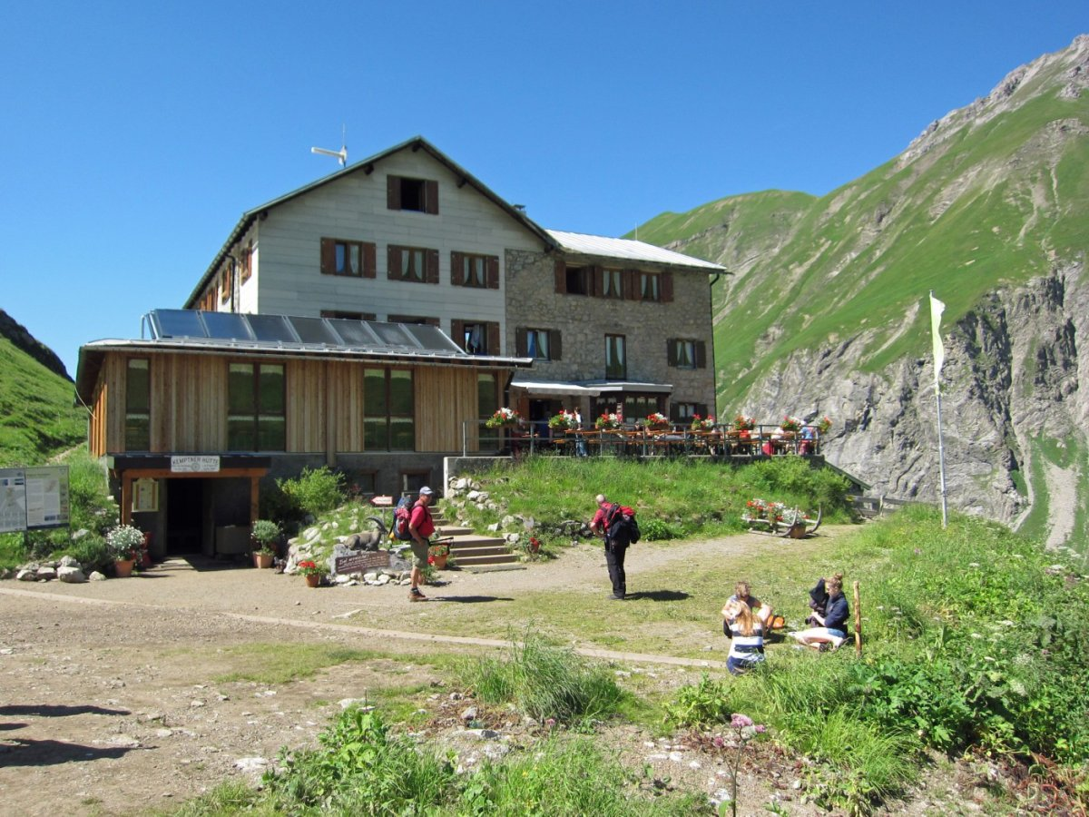 1. Tag - Die Kemptner Hütte auf 1.846 m, unsere erste Übernachtung