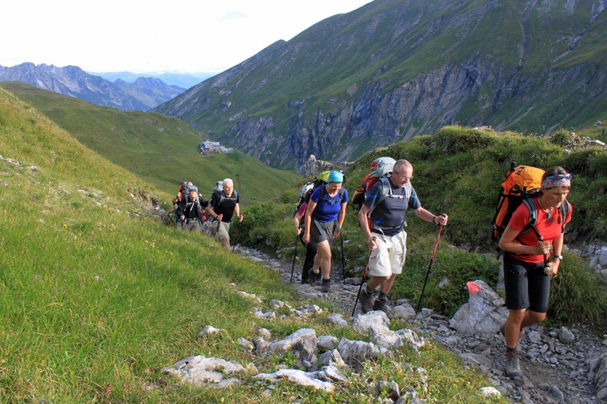 2. Tag - Start zu unserer zweiten Etappe, die Kemptner Hütte liegt bald hinter uns