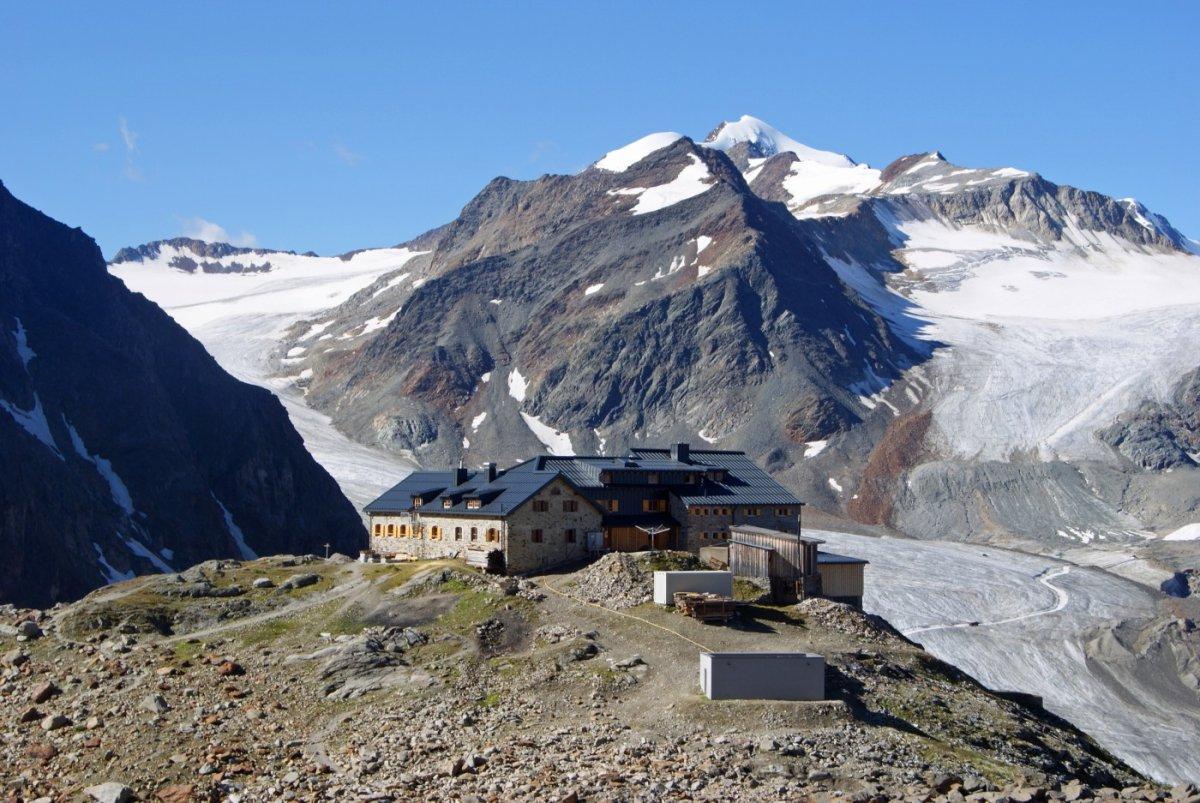 4. Tag - Die neu renovierte Braunschweiger Hütte (2.759 m), unsere Herberge für die vierte Nacht
