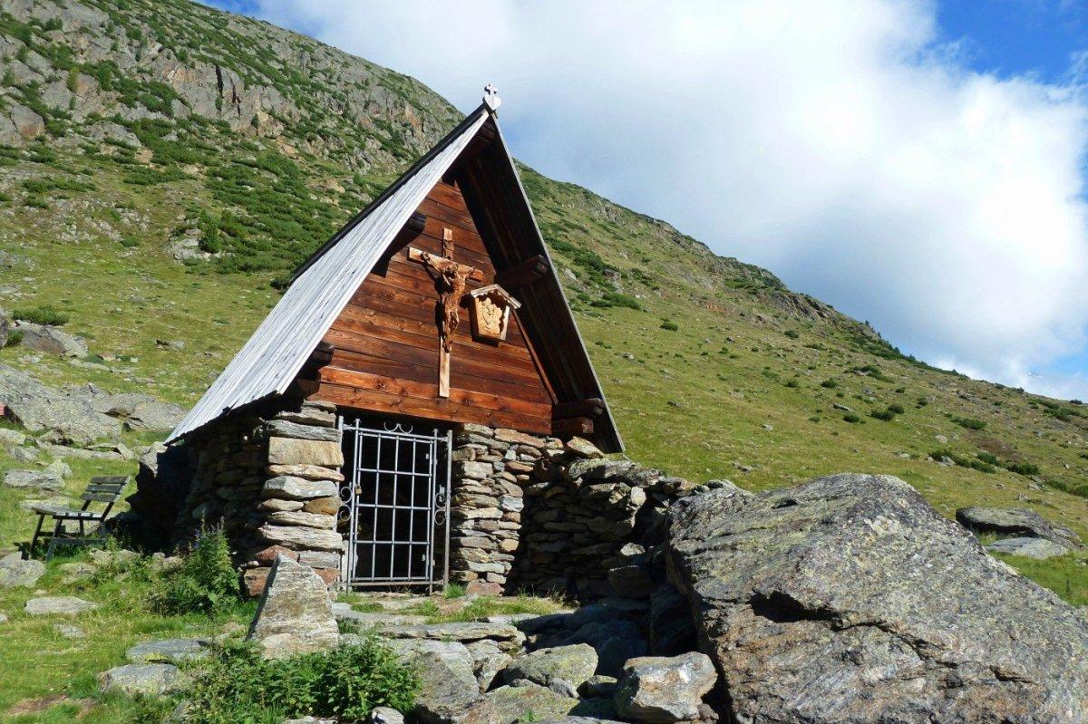 6. Tag - Schäferkapelle beim Aufstieg zur Similaunhütte (3.019 m)