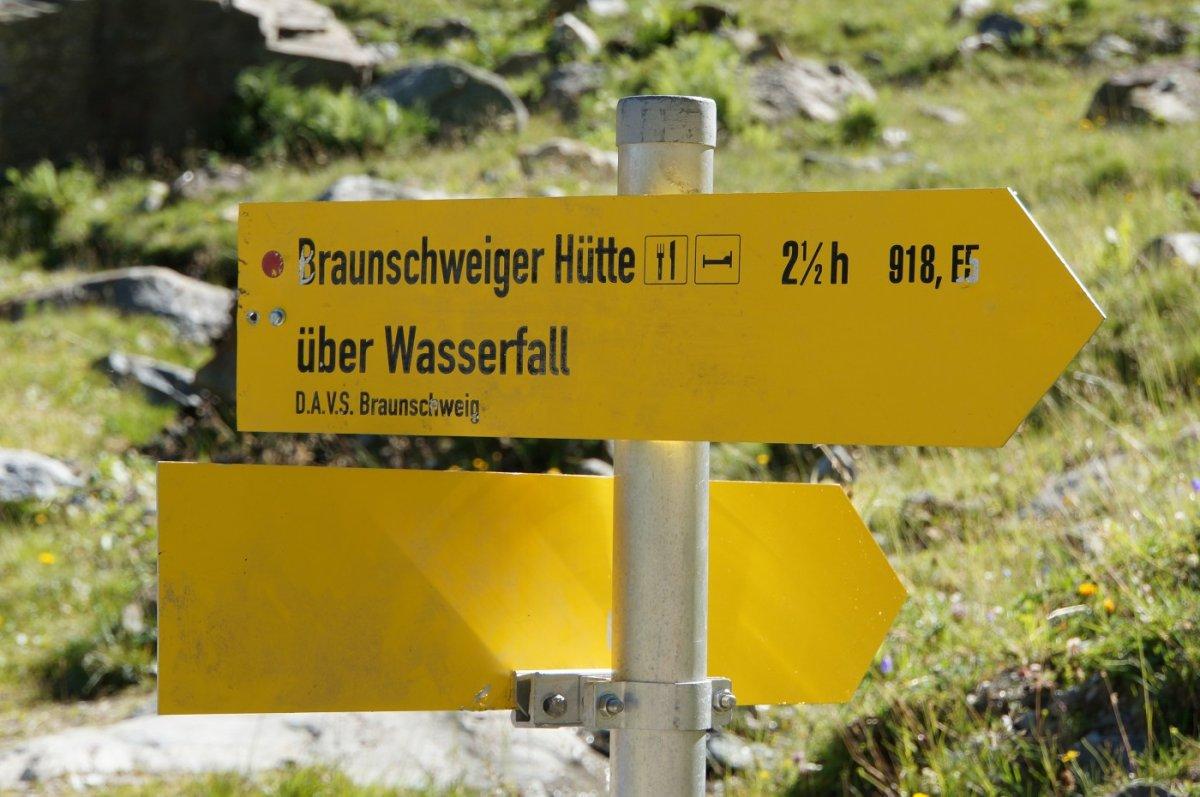 4. Tag - Von Mittelberg starten wir den Aufstieg zur Braunschweiger Hütte
