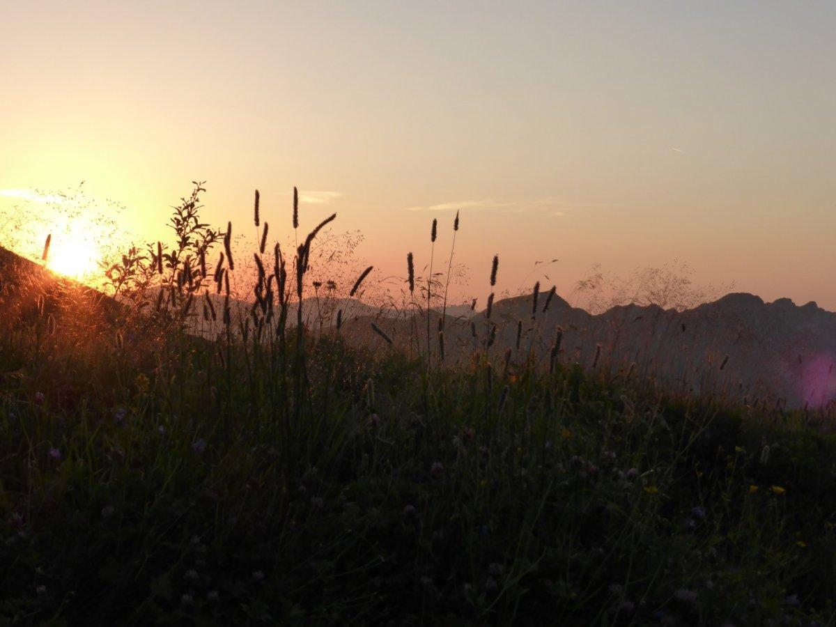1. Tag - Sonnenuntergang am Kratzer hinter der Kemptner Hütte