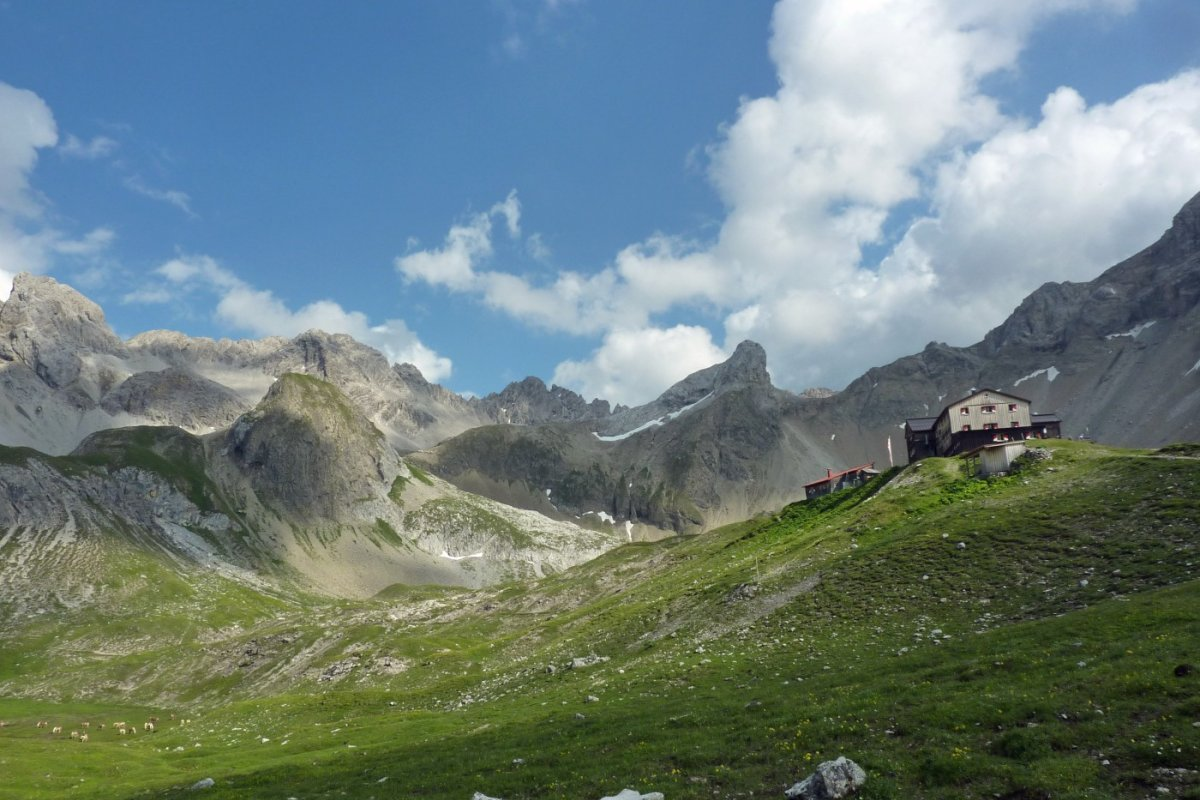 2. Tag - Die Memminger Hütte (2.242 m) in den Lechtaler Alpen, unsere zweite Übernachtung