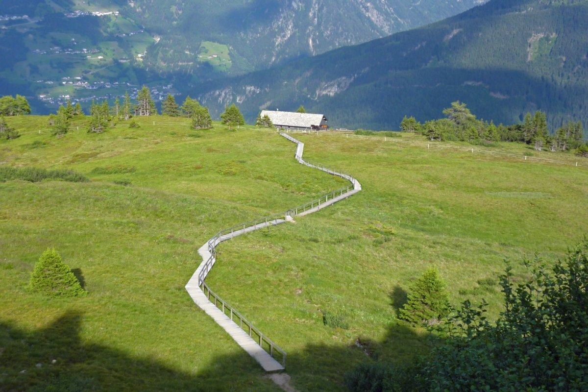 3. Tag - Die letzten Meter zur Galflunalm, unserer heutigen Übernachtung, führen durch ein Hochmoor