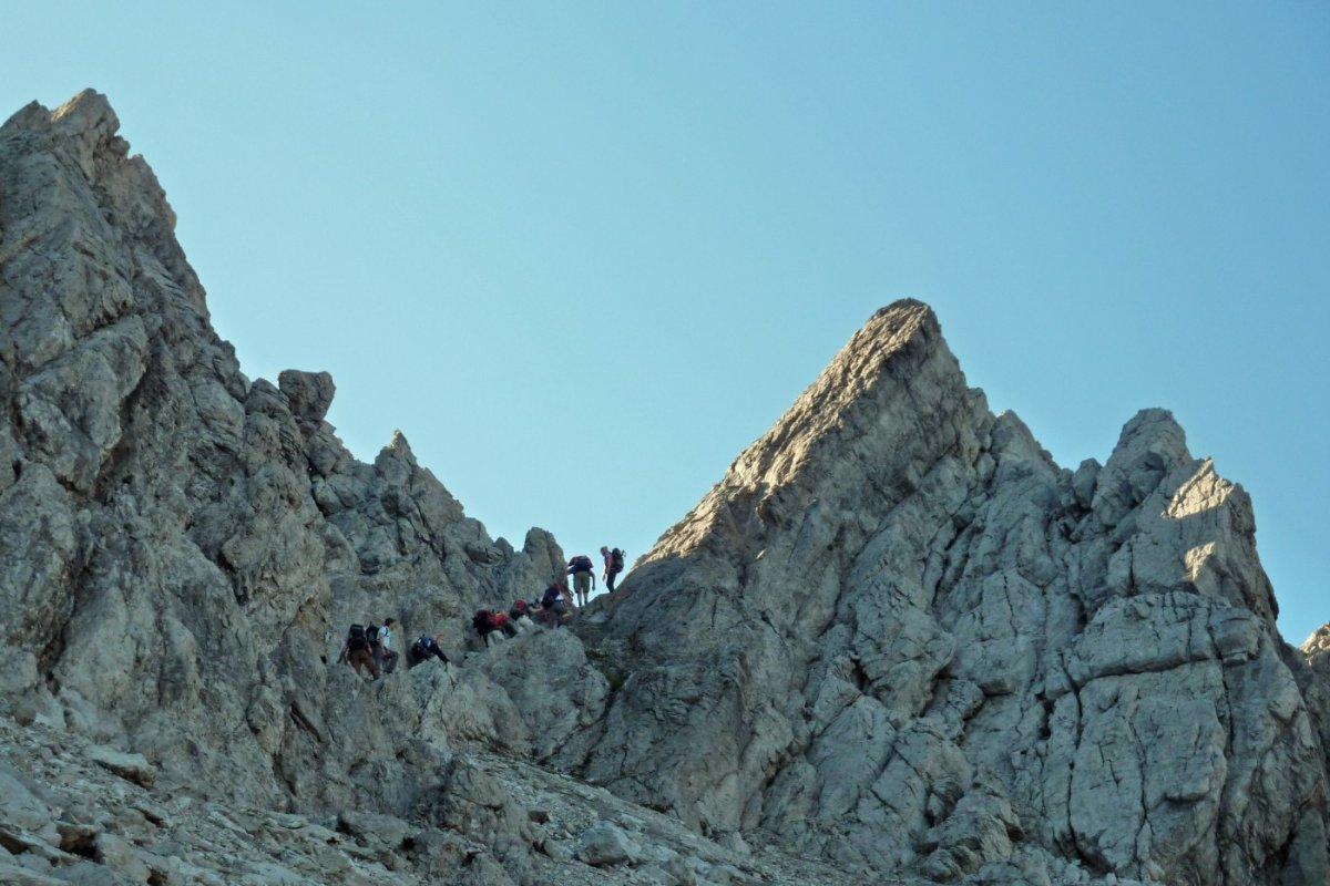 3. Tag - Die letzten Meter zur Seescharte (2.664 m) erfordern ein wenig Kletterei