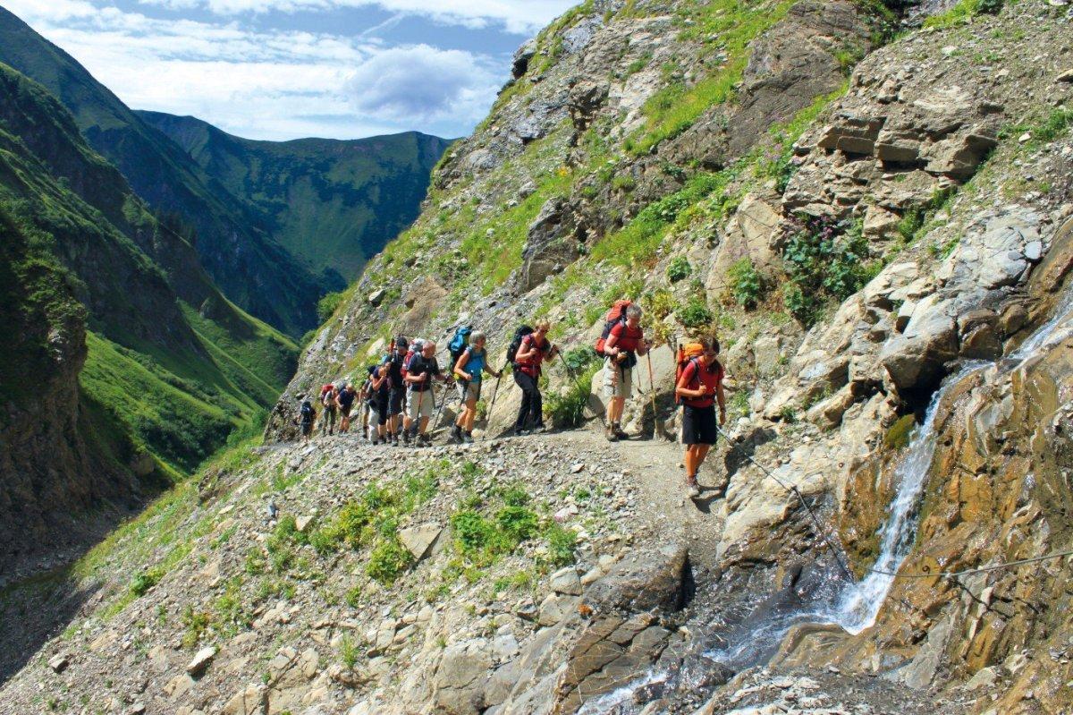 1. Tag - Beim Aufstieg durchs wilde Sperrbachtobel