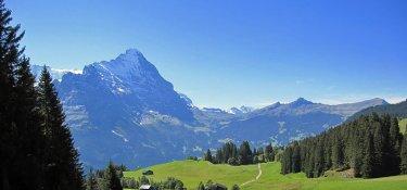 2. Tag - Blick auf den Eiger mit seiner imposanten Nordwand