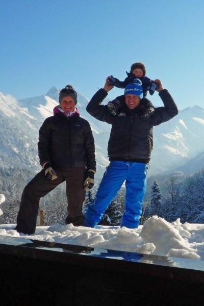 Winterlicher Familienausflug