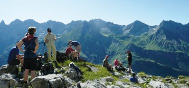 2. Tag - Pause auf dem Fellhorngrat mit traumhaftem Panoramablick