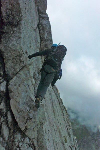 Im Mindelheimer Klettersteig