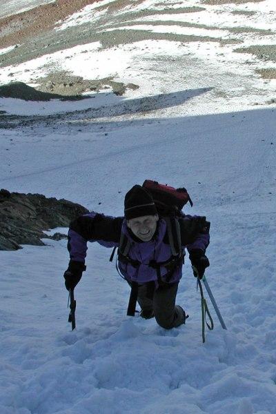 Aufstieg durch das Mitterkarjoch auf die Wildspitze