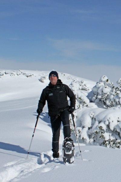 Auf Schneeschuhtour am Gottesacker, Kleinwalsertal