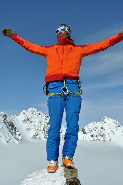 Am Gipfel in den Lyngen Alps