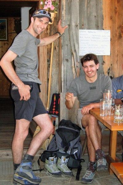 Nach erfolgreicher Führungstour E5 mit Stephan am Tisenhof
