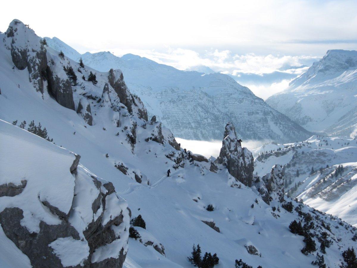 2. Tag - Variantenabfahrt vom Karhorn nach Lech
