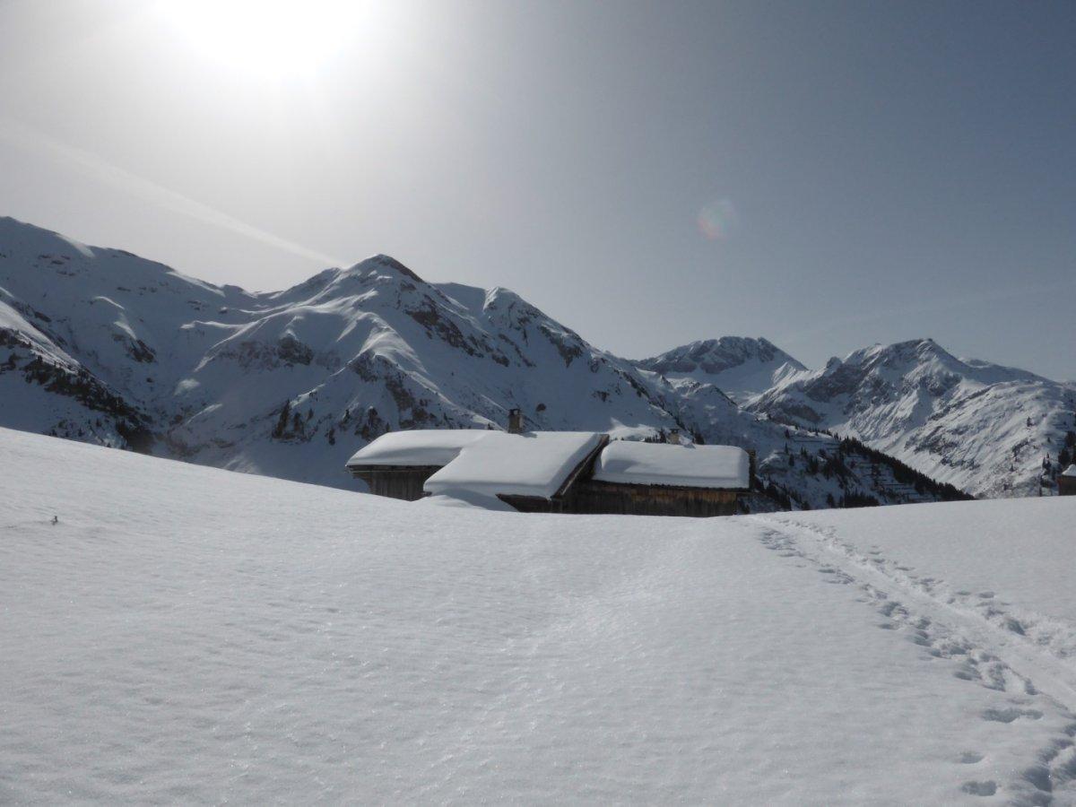 3. Tag - Alphütte beim Übergang von Warth nach Lech