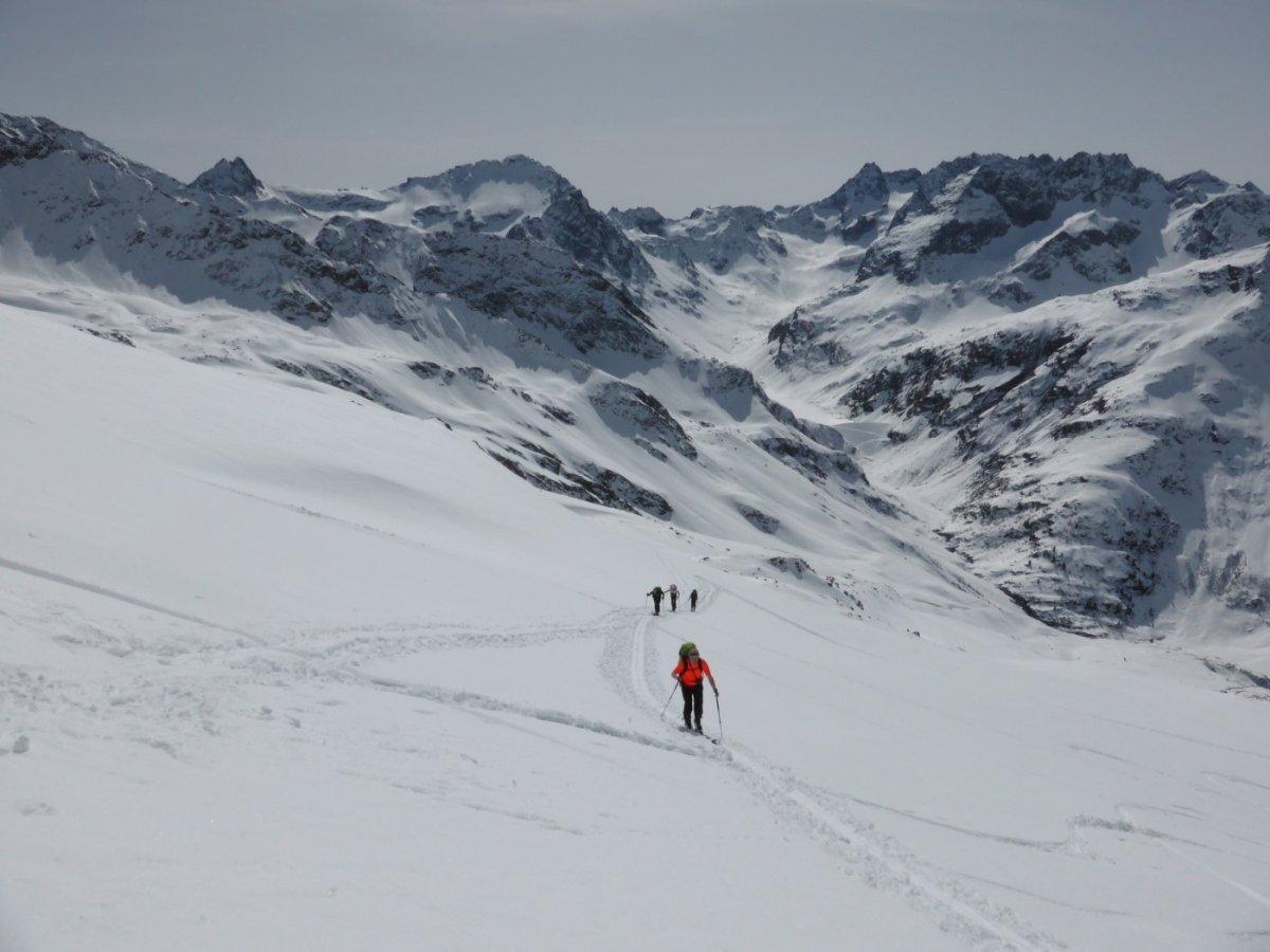 3. Tag - Aufstieg vom hinteren Rendl zur Roßfallscharte (2.732 m)