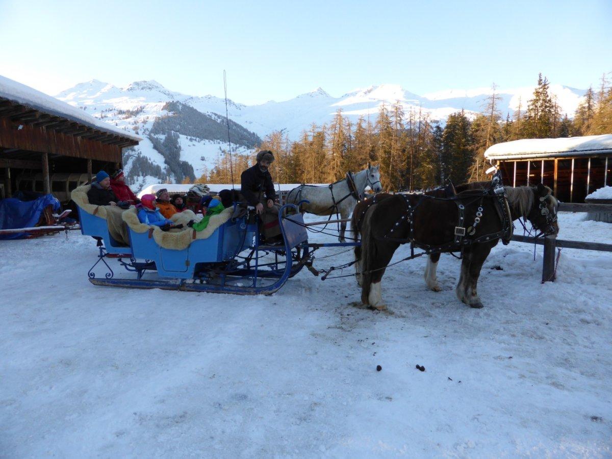4.Tag - ...und dann mit dem Pferdeschlitten weiter ins einsame Val S-charl (1.810 m)