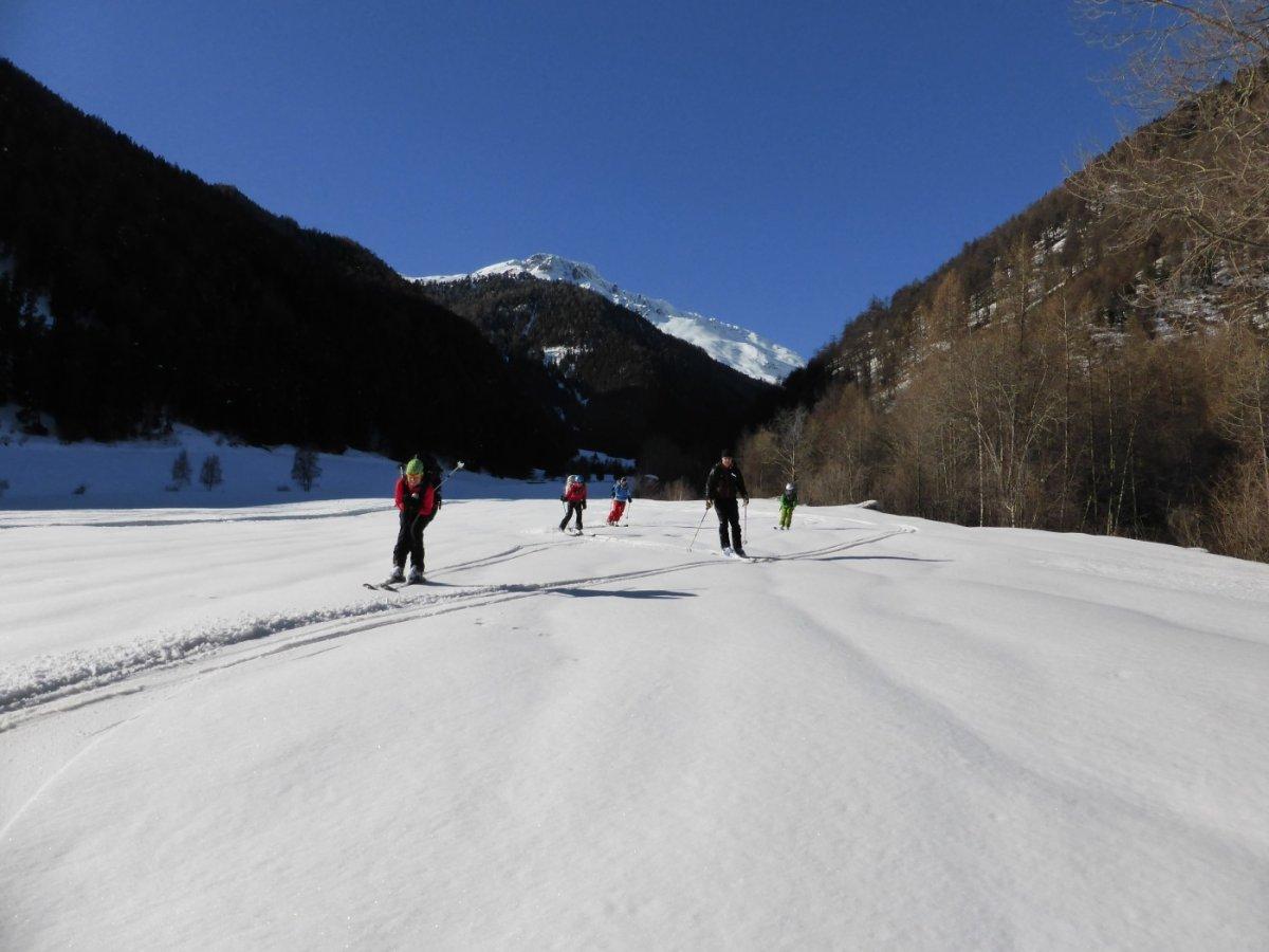 5.Tag - Die letzten Meter unserer Skitransalp hinunter nach Taufers, anschließend Rückfahrt mit dem Taxi nach Oberstdorf