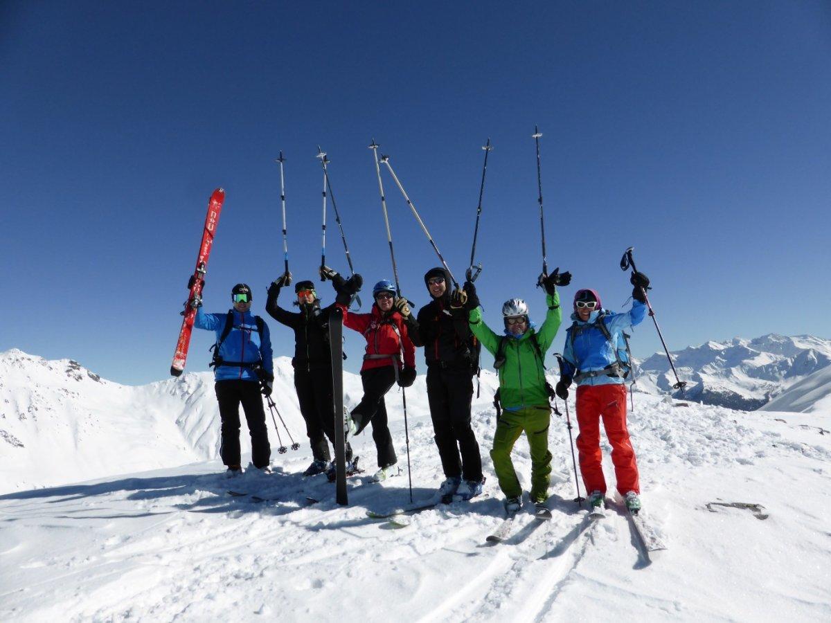 5.Tag - Geschafft, der Gipfel des Mot Falain (2.690 m) ist erreicht