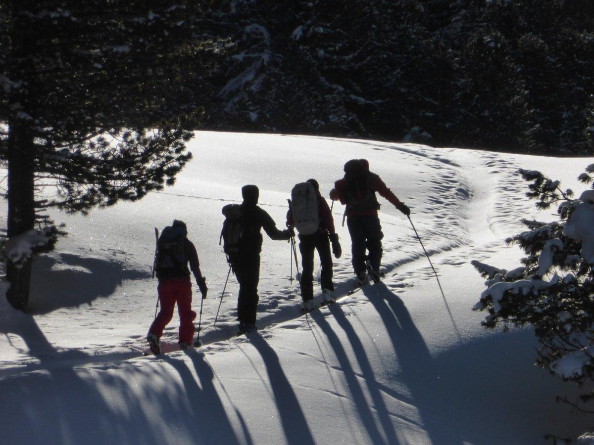 5.Tag - Schon bald wärmen uns die ersten Sonnenstrahlen im Val S-charl