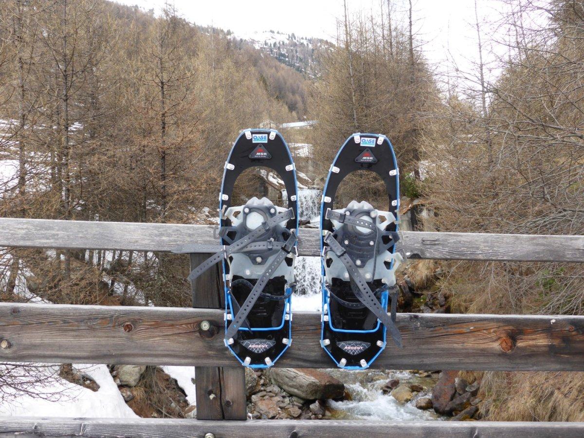 6. Tag - Auch unsere Schneeschuhe haben es geschafft, der MSR Lightning, ein Schneeschuhmodell, auf das absolut Verlass ist