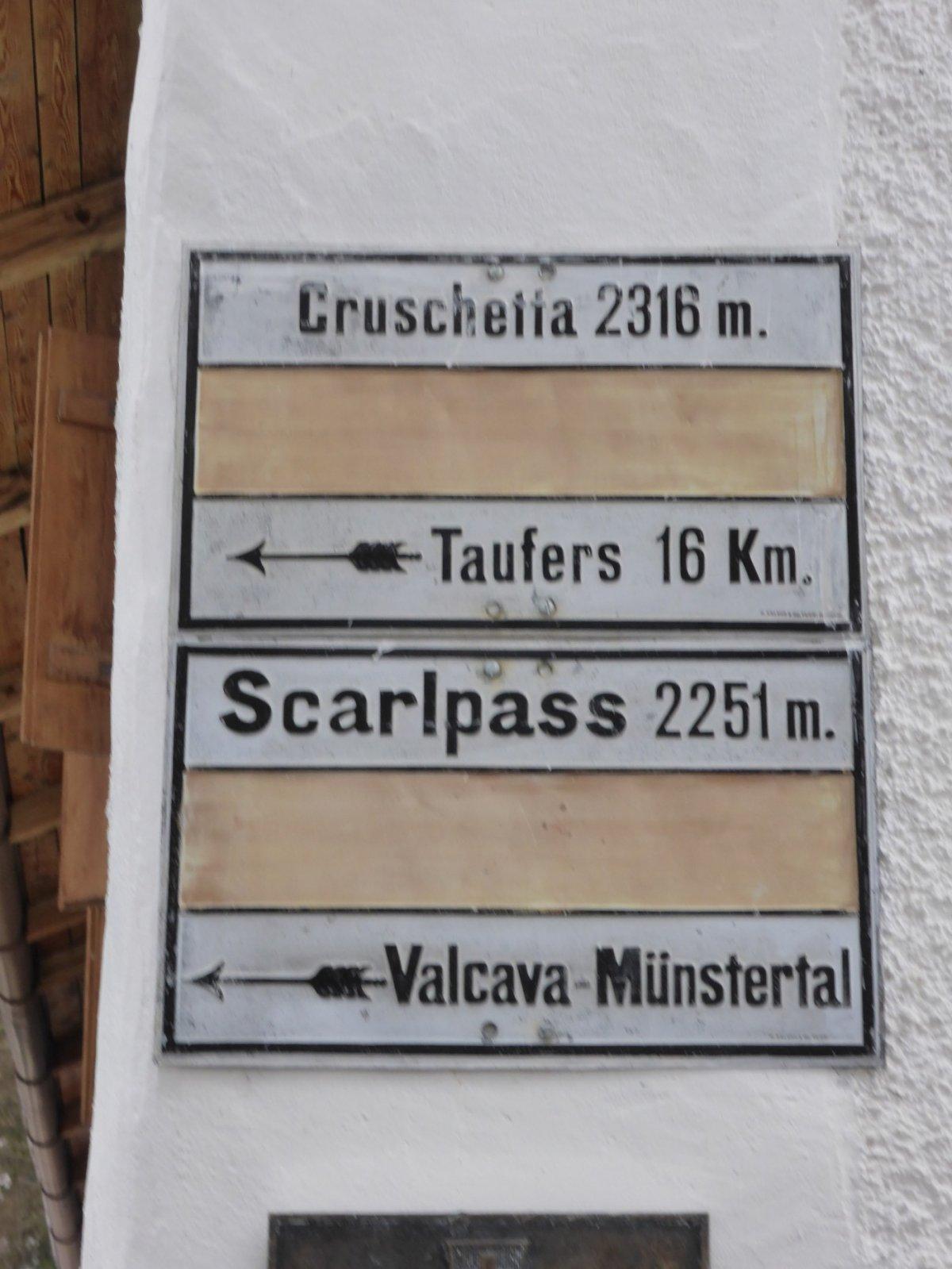 6. Tag - Die letzte Etappe, von S-charl nach Taufers sind es nur noch 16 km
