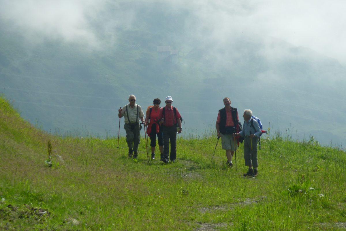 2. Tag - Auf den letzten Metern zur Ulmer Hütte können wir uns im einfachen Gelände auslaufen