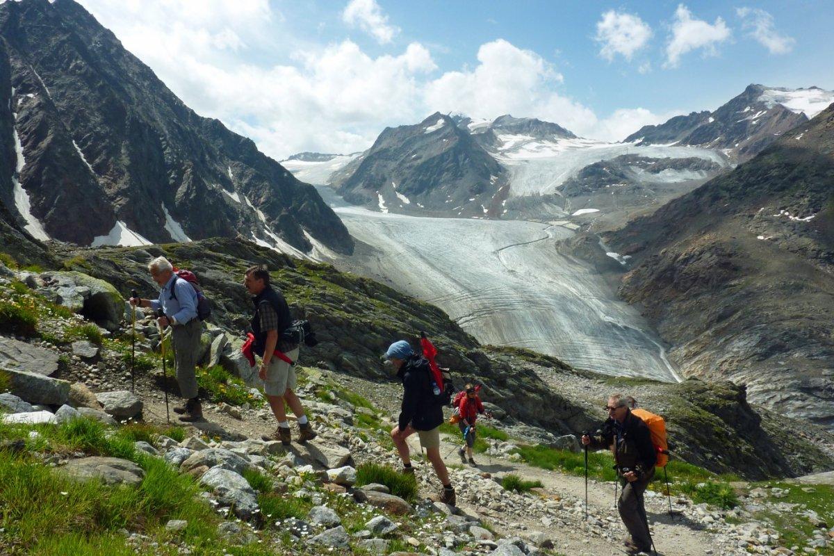 4. Tag - Blick auf den Mittelbergferner in den Ötztaler Alpen