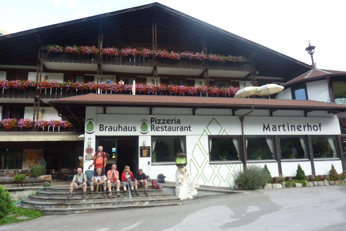5. Tag - Nach der Taxifahrt ins Passeiertal übernachten wir in St. Martin im Gasthof, der Nachmittag steht zur freien Verfügung