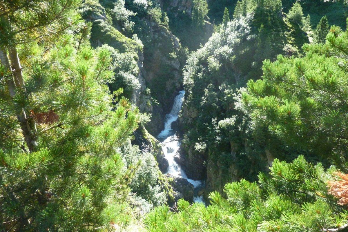 5. Tag - Wasserfall beim Aufstieg zum Timmelsjoch