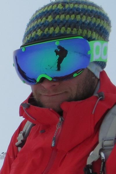 Beim Skitouren auf Island