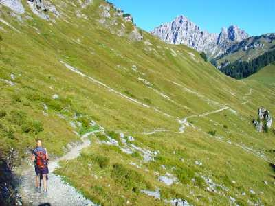 Einfache Bergwege